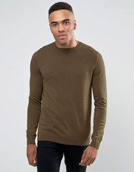 New Look Crew Neck Jumper In Brown Light Brown