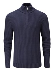 Henri Lloyd Men's Felsted Regular Half Zip Knit Navy
