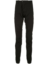 Masnada Slim Fit Gathered Trousers Black