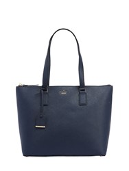Kate Spade Lucie Leather Saffiano Tote Bag Blue