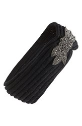 David And Young Embellished Headband Black