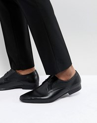 Pier One Leather Embossed Derby Shoes In Black