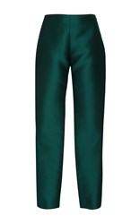 Alexis Mabille High Waisted Straight Leg Trousers Green