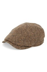 Wigens Men's Lambswool Newsboy Cap With Earflaps