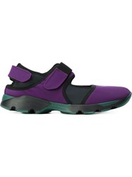 Marni Velcro Fastening Sneakers Pink And Purple