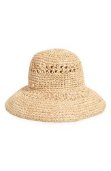 Bcbgmaxazria Straw Bucket Hat Brown Natural