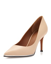 Lia Pointed Toe Leather Pump Beige Givenchy