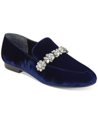 Ivanka Trump Wareen Embellished Flats Women's Shoes Blu Notte