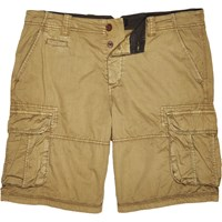 River Island Mens Brown Twill Cargo Knee Length Shorts