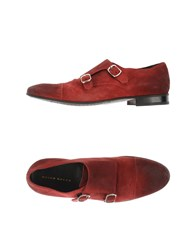 Brian Dales Footwear Moccasins Men Brick Red