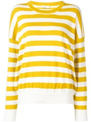 Closed Striped Jersey Sweater Yellow