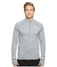 Nike Element Sphere Half Zip Cool Grey Heather Wolf Grey Men's Long Sleeve Pullover Gray