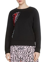 Maje Theophile Butterfly Embroidered Sweatshirt Black