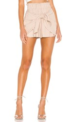 Bcbgeneration Knot Front Short In Beige. Taupe