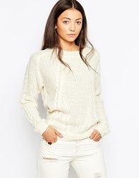 By Zoe By Zoe Morris Cable Knit Jumper Ecru