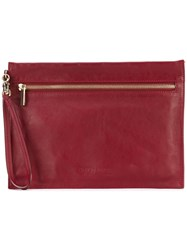 Giorgio Armani Vintage Envelope Clutch Red