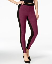 Hue Blocked Microsuede Leggings Winetasting