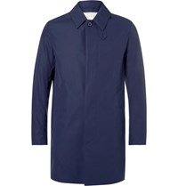 Mackintosh Slim Fit Bonded Cotton Raincoat Blue