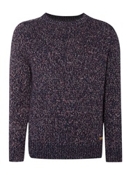 Army And Navy Ruskin Crew Neck Jumper Navy