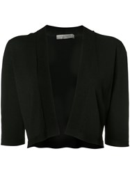 D.Exterior Cropped Angular Cardigan Black