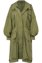 House Of Holland Oversized Ripstop Coat Army Green