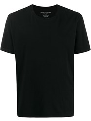 Majestic Filatures Plain Crew Neck T Shirt Black
