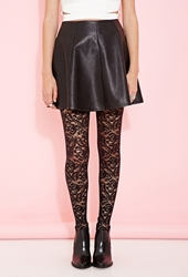 Forever 21 Floral Lace Tights