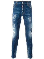 Dsquared2 Cool Guy Distressed Jeans Blue