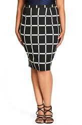 City Chic Plus Size Women's Vintage Pencil Skirt