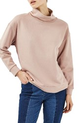 Topshop Women's Boutique Funnel Neck Sweatshirt