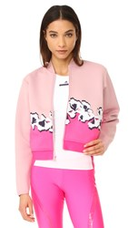 Adidas By Stella Mccartney Yoga Flower Jacket Dusk Pink Shock Pink