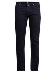 Jacob Cohen Tailored Slim Leg Stretch Denim Jeans Blue