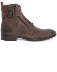 Paul And Joe Sicker Brown Suede Side Zip Laced Boots