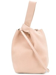 Theory Bucket Asymmetric Shoulder Bag Pink And Purple