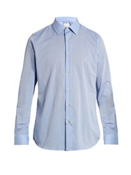 Paul Smith Pin Dot Print Point Collar Cotton Shirt Light Blue