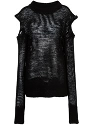 Vivienne Westwood Anglomania Open Knit Longsleeved Blouse Black