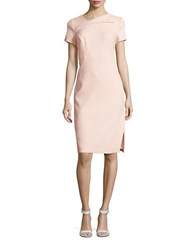Vince Camuto Short Sleeve Sheath Dress Blush