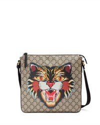 Gucci Angry Cat Gg Supreme Messenger Bag Beige