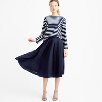 J.Crew Petite Micro Pleated Midi Skirt