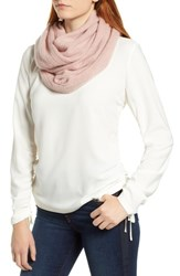 Halogen Solid Cashmere Infinity Scarf Pink Rosecloud Heather