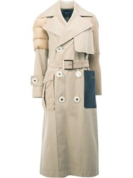 Undercover Padded Shoulder Mid Coat Nude Neutrals