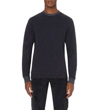 Oliver Spencer Cali Flecked Sweatshirt Navy