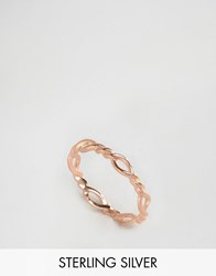 Asos Rose Gold Plated Sterling Silver Vintage Twist Ring Rose Gold Plated Copper