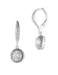 Judith Jack Cubic Zirconia Crystal Marcasite And Sterling Silver Drop Earrings Silvertone