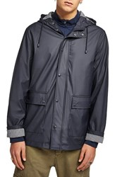 Topman Waterproof Rain Parka Dark Blue