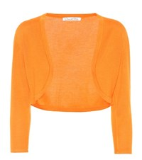 Oscar De La Renta Cashmere And Silk Cardigan Orange