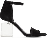 Alexander Wang Black Lucite Abby Sandals