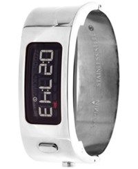 Garmin Unisex Automatic Digital Stainless Steel Bangle Bracelet Watch With Interchangeable Black Rubber Strap 62X21mm Gags424912