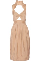 Jill Stuart Tanya Cutout Cotton Dress Orange