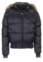 Schott Nyc Winter Jacket Navy Blue Black Denim